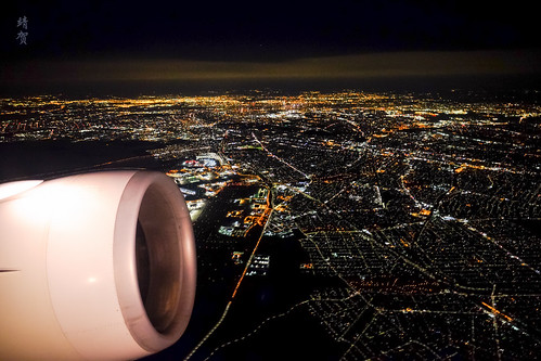 City lights from the air | by A. Wee
