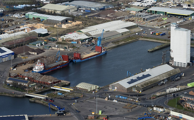 Kings Lynn Bentinck Dock aerial image