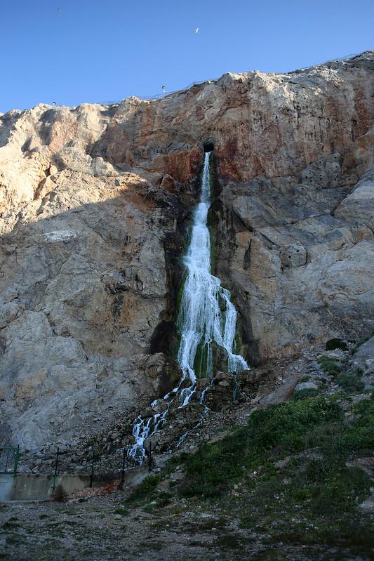 Waterfall at Camp Bay, Gibraltar