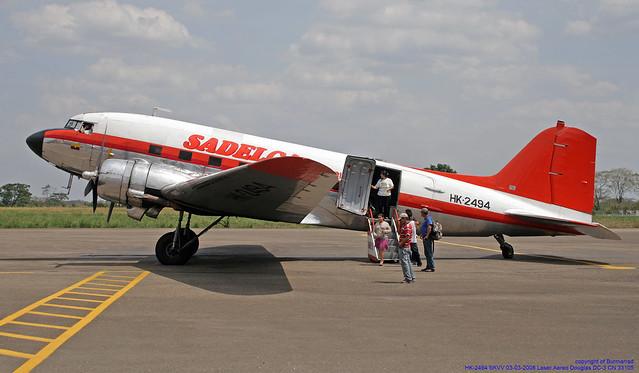 HK-2494 SKVV 03-03-2008 Laser Aereo Douglas DC-3 CN 33105