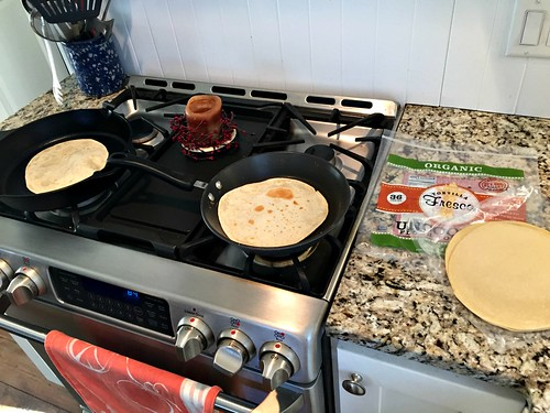 cooking tortillas in cast iron pans