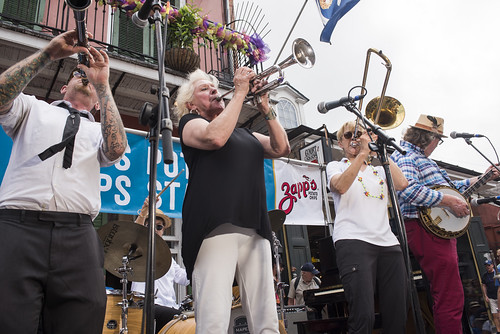 Some Like it Hot Traditional Jazz Band play French Quarter Fest day 3 on April 13, 2019. Photo by Ryan Hodgson-Rigsbee RHRphoto.com