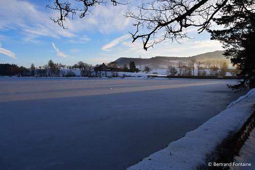 Un matin d'hiver sur le lac de Bret | by bertrand.fontaine