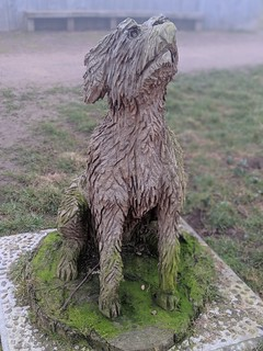 Dog Statue at Portlethen Community Woodland Walk