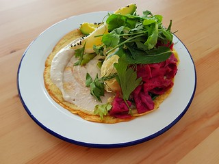 Chickpea Crepe at Flora West End