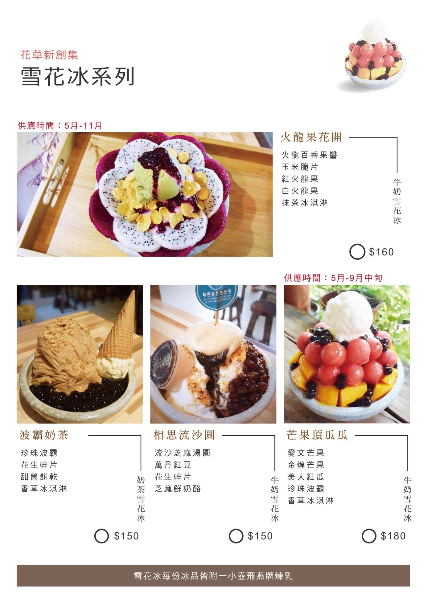 新南五五製冰所 菜單 台中大里冰店08