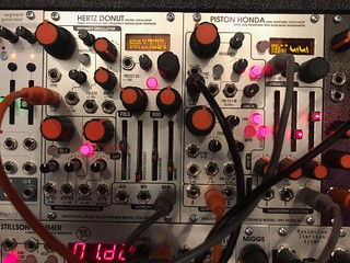 Industrial Music Electronics Hertz Donut Mark III  Piston Honda Mark III modules at Synthplex 2019