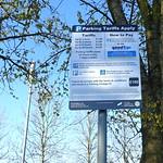 New parking signs at Baffito's restaurant, Preston