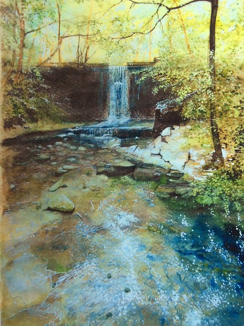 Wepre Park . Watercolour painting by jmsw.