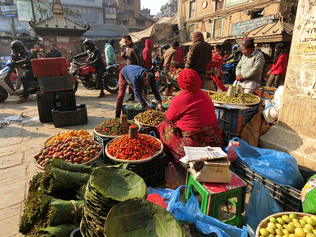 Small fruits in market