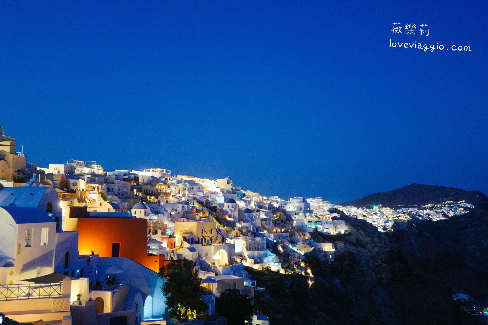 【希臘聖托里尼 Santorini】伊亞Oia 愛琴海最迷人的夜景 @薇樂莉 Love Viaggio | 旅行.生活.攝影
