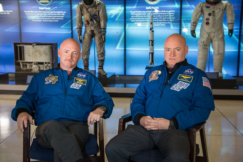NASA Astronauts and Twin Brothers Mark and Scott Kelly
