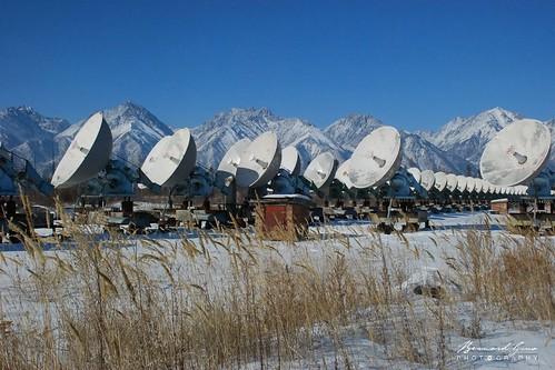 Badary radiotélescope solaire, vallée de la Tounka © Bernard Grua | by Photos de voyages, d'expéditions et de reportages