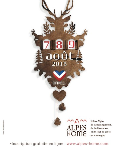 Affiche Alpes Home Méribel 2015