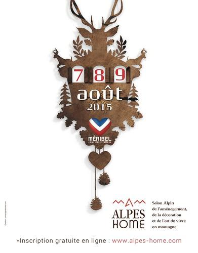 Affiche Alpes Home Méribel 2015