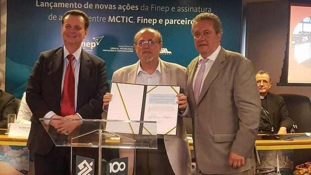 21/12/2018. São Paulo-SP. Ministro Gilberto Kassab durante cerimônia de assinatura de acordos e lançamento de ações da Finep. Fotos: Célio Soares/MCTIC.
