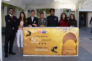 "Maroc - Oujda - Campus Tour #EU4YOUth... pour fêter les #50ansMarocUE - المغرب ـ وجدة ـ جولة في الحرم الجامعي #EU4YOUth ""الإحتفال ب#50سنة المغرب أوروبا"""