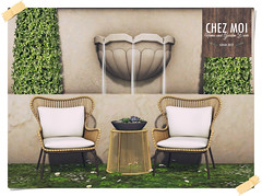 Wicker Patio Chat Set CHEZ MOI