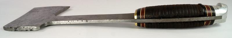 RD27730 Vintage The Coast Cutlery Axe Hatchet All Steel Leather Wrapped Handle Portland Oregon DSC09938