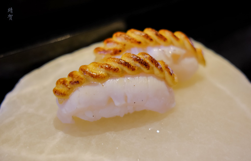 Sea urchin mousse over scallops
