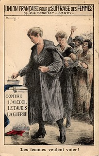 Postcard showing French Union for Women's Suffrage | by LSE Library