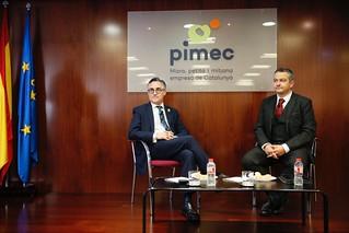 Jornada #PIMECBreakfast entorn del Brexit, amb Christopher Dottie, president de la Cambra de Comerç Britànica i Ramon Tremosa, eurodiputat al parlament europeu.