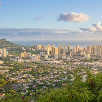 Downtown Honolulu from Tantalus Lookout