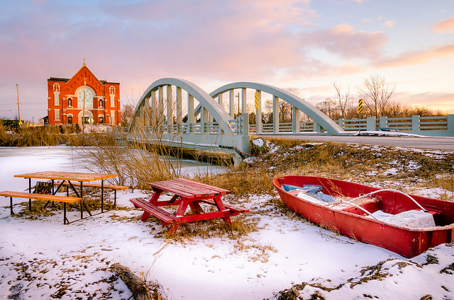 Winter Life in River Canard