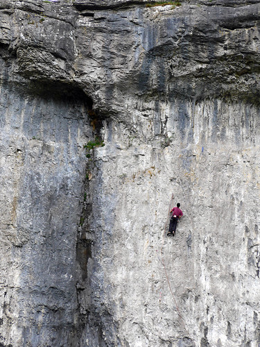 Mountain climber on our Malham walk in the Yorkshire Dales of England