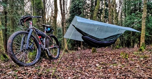 23 2 Morning all, that was colder than was forecasted #Bikepacking #ddhammock #laufforks #traversbikes