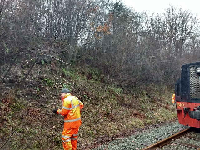 Emergency Clearance in Quarry Cutting January 2018
