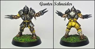 Gunter Schneider of the Von Holden Ironsides (Blood Bowl (Games Workshop's 2016 Edition) Human Lineman)   by akaisamurai