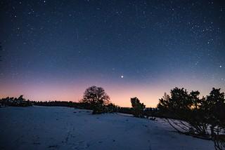 Totale Mondfinsternis mit Sternschnuppe