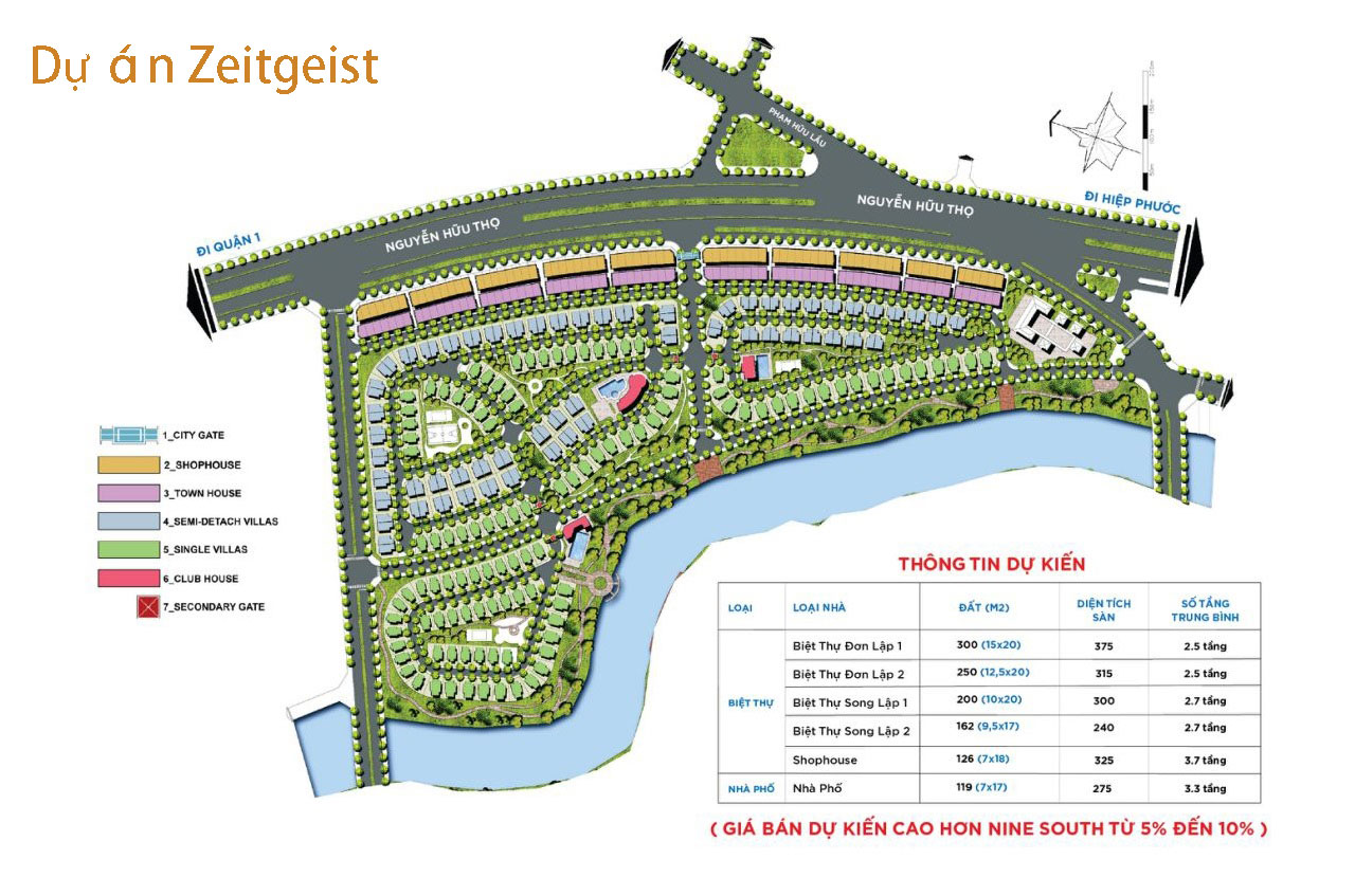 layout thiết kế mẫu ZeitGeist Nhà Bè