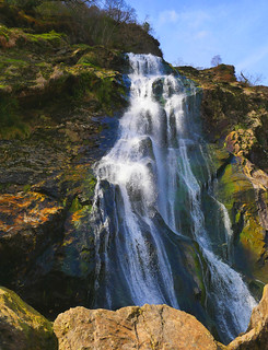 Powerscourt waterfall saturated | by foxtail_1