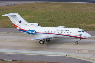 1257 Czech Air Force Yakovlev Yak-40K, Maastricht Aachen Airport - EHBK/MST | by neplev1