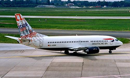 D-ADBN   Boeing 737-31S [29058] (Deutsche BA) Dusseldorf Int'l~D 20/05/1998