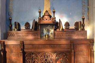 WWI memorial altar