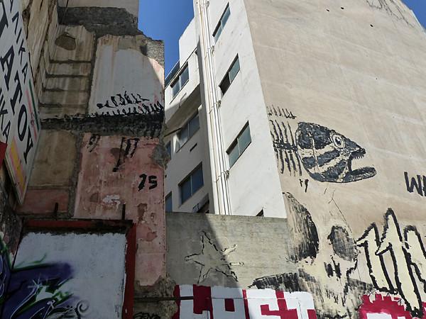 poisson sur mur