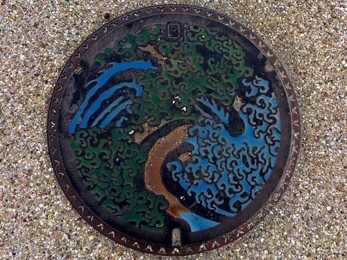Obuse Nagano, manhole cover 2 (長野県小布施町のマンホール2)