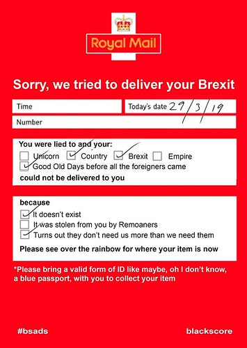 Sorry, we tried to deliver your Brexit #bsads 🇪🇺 | by dullhunk