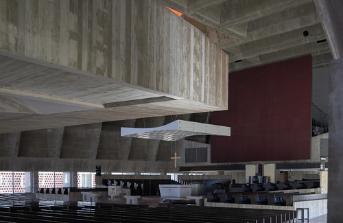 saint john's university collegeville minnesota abbey church 1961 marcel breuer architect concrete brutalism beton brut modern architecture daylight daylitonly