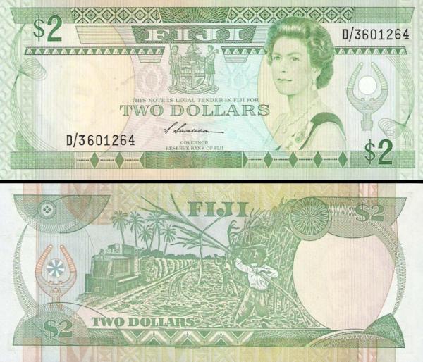 2 fidžijské doláre Fidži 1988, P87
