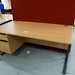 Oak desk comes with ped E150