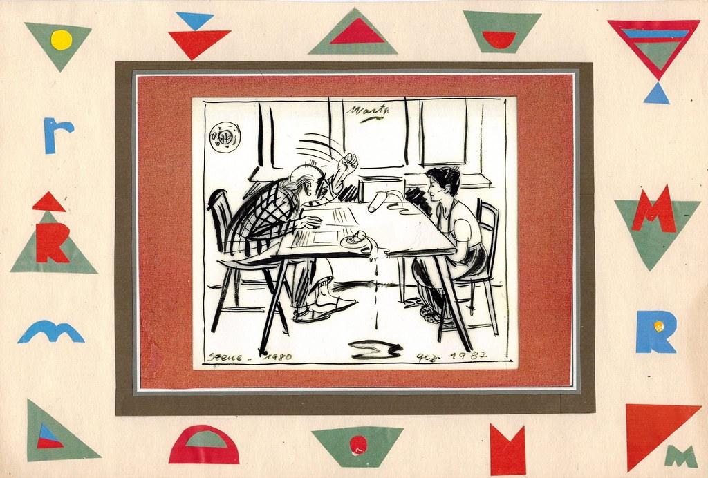 Josep Renau Enojado Dibujo De Marta Hofmann Recuerdos De