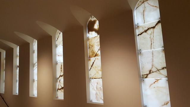 marbled windows