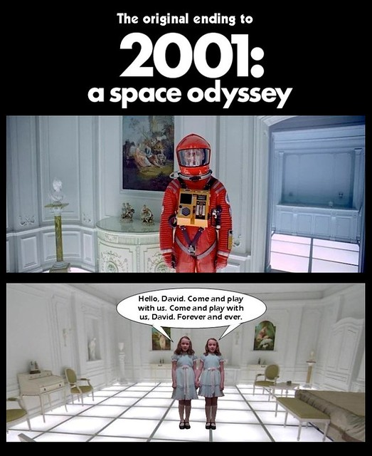 THE ORIGINAL ENDING TO 2001 : A SPACE ODYSSEY