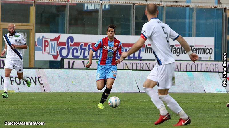 Michael Liguori, doppio ex di turno, in azione con la maglia del Catania nella stagione 2018/19