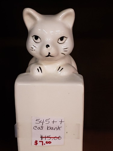 catbank catbookend vintage antique flatwoodswv cat kitsch