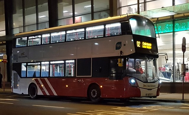 Entering Service: Bus Éireann (Roxborough, Limerick) Dual-Door Wright Gemini 3 Volvo B5TL VWD422 (182-L-12)  on Route 302 and about to commence Board 302/02 at  Henry Street, Limerick on Wednesday, 23rd January, 2019.